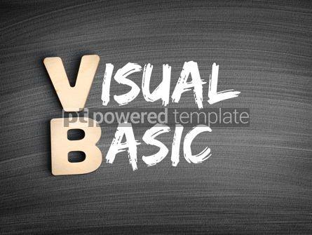 Business: VB - Visual Basic acronym technology concept on blackboard #16279