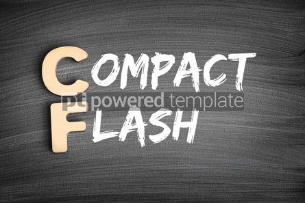 Business: CF - Compact Flash acronym technology concept on blackboard #16281