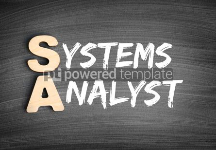 Business: SA - Systems Analyst acronym technology concept on blackboard #16282