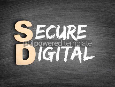 Business: SD - Secure Digital acronym technology concept on blackboard #16283