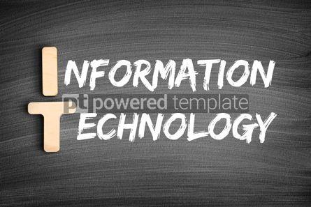 Business: IT - Information Technology acronym concept on blackboard #16287