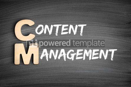 Business: CM - Content Management acronym business concept on blackboard #16291
