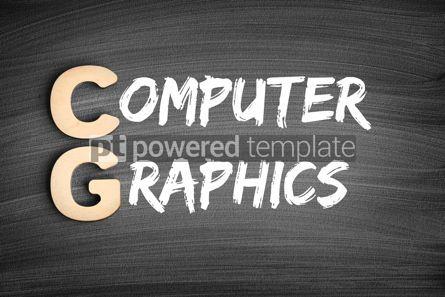 Business: CG - Computer Graphics acronym technology concept on blackboard #16292