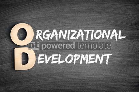 Business: OD - Organizational Development acronym business concept on bla #16294