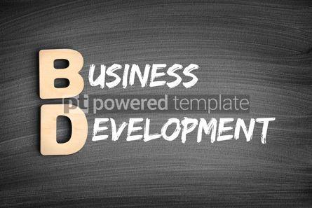 Business: BD - Business Development acronym business concept on blackboar #16296