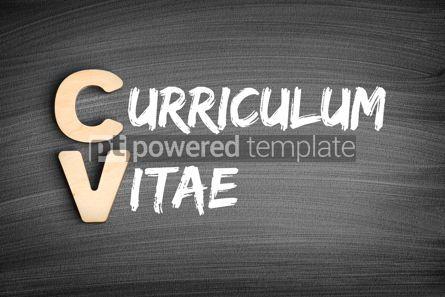 Business: CV - Curriculum Vitae acronym business concept on blackboard #16297