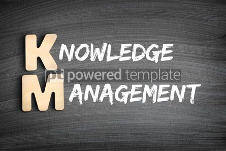 Business: KM - Knowledge Management acronym business concept on blackboar #16300