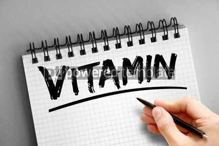 Business: Text note - Vitamin health concept on notepad #16307