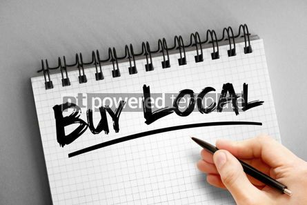 Business: Text note - Buy Local business concept on notepad #16308