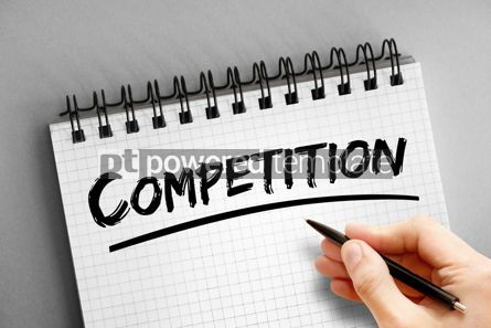 Business: Text note - Competition concept on notepad #16309