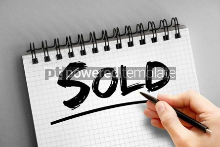 Business: Text note - Sold business concept on notepad #16311