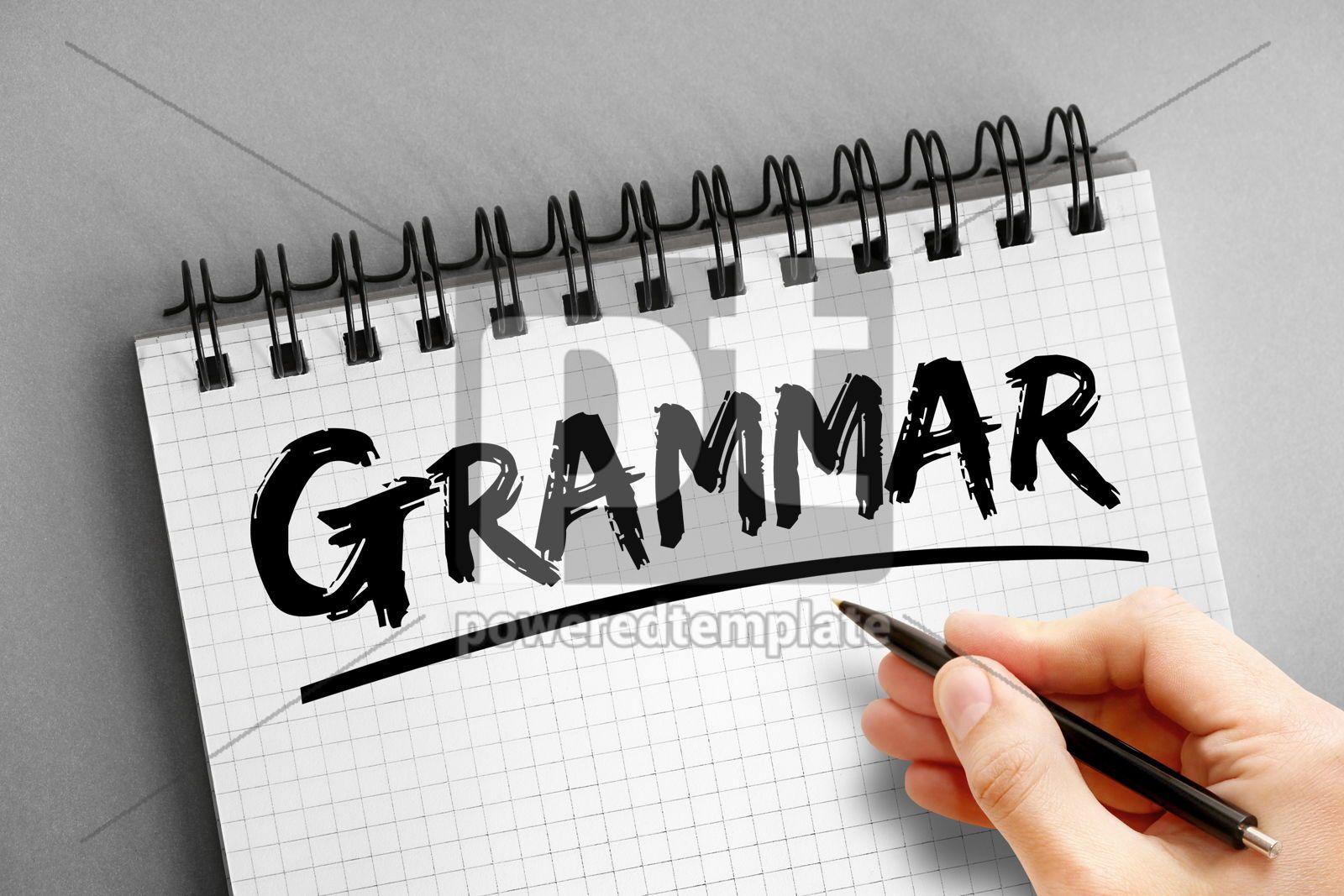 Text note - Grammar education concept on notepad, 16313, Business — PoweredTemplate.com