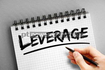 Business: Text note - Leverage business concept on notepad #16314