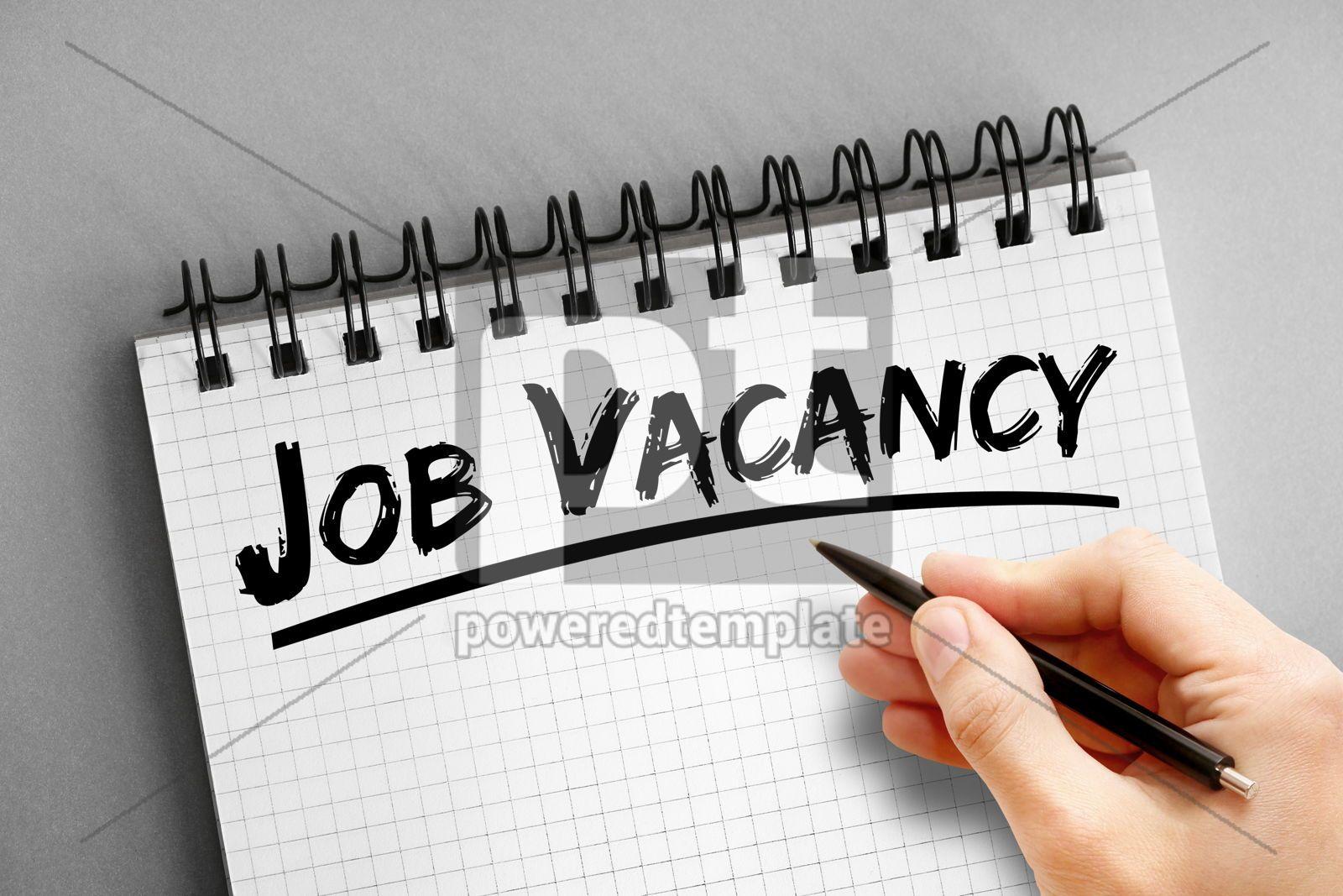 Text note - Job Vacancy business concept on notepad, 16315, Business — PoweredTemplate.com