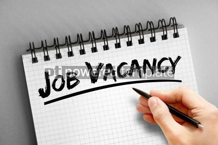 Business: Text note - Job Vacancy business concept on notepad #16315
