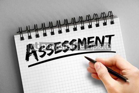 Business: Text note - Assessment business concept on notepad #16316