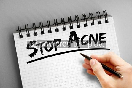 Business: Text note - Stop Acne health concept on notepad #16318