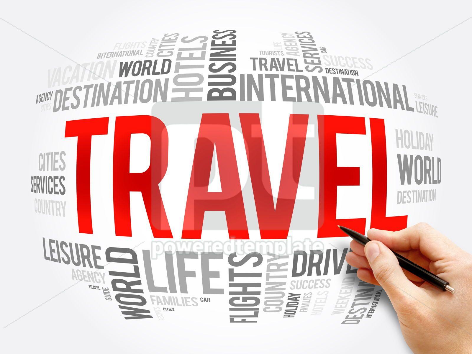 TRAVEL word cloud collage travel concept, 16320, Business — PoweredTemplate.com