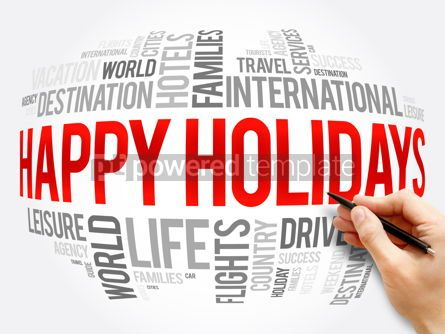 Business: Happy Holidays word cloud collage #16323