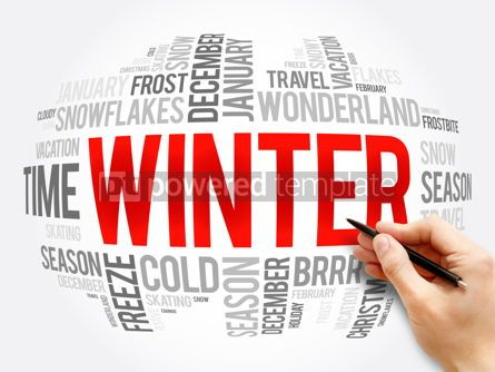 Business: Winter word cloud collage concept background #16324