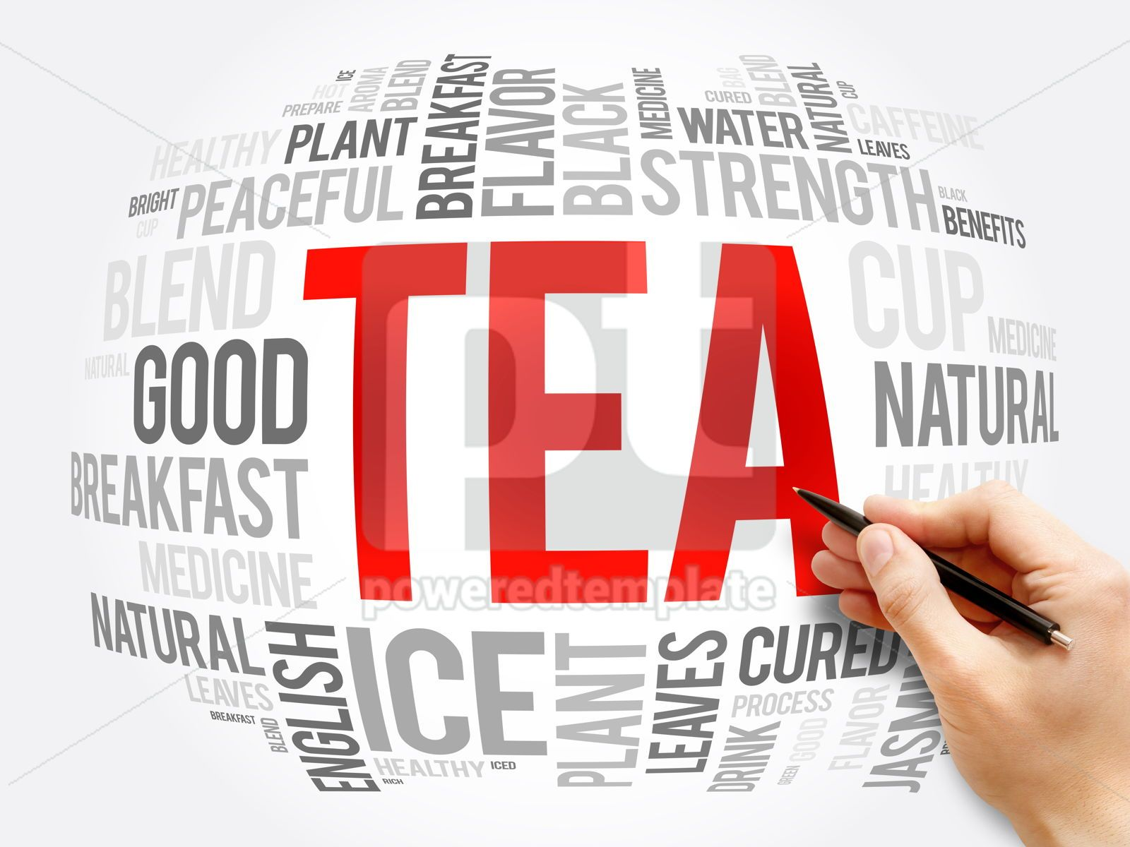 TEA word cloud collage food and drink concept, 16325, Business — PoweredTemplate.com