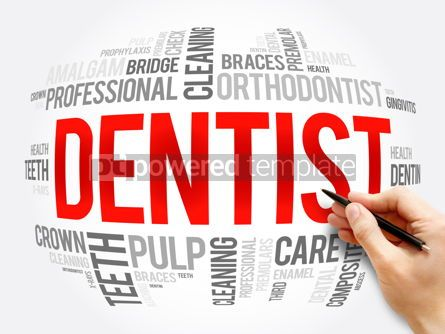 Business: Dentist word cloud collage health concept #16327