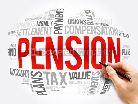 Business: Pension word cloud collage social concept #16337