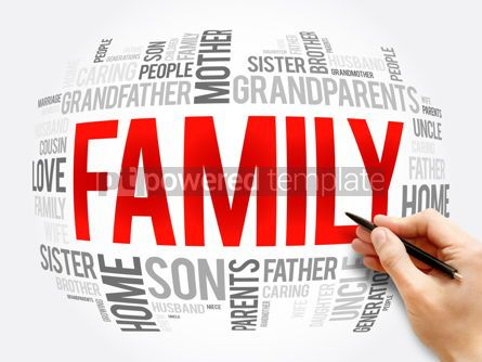 Business: Family word cloud collage social concept #16342