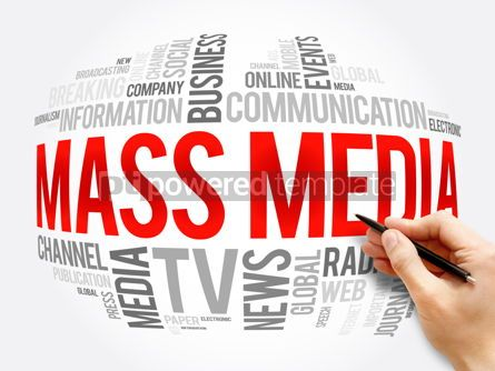 Business: Mass media word cloud collage technology concept #16344