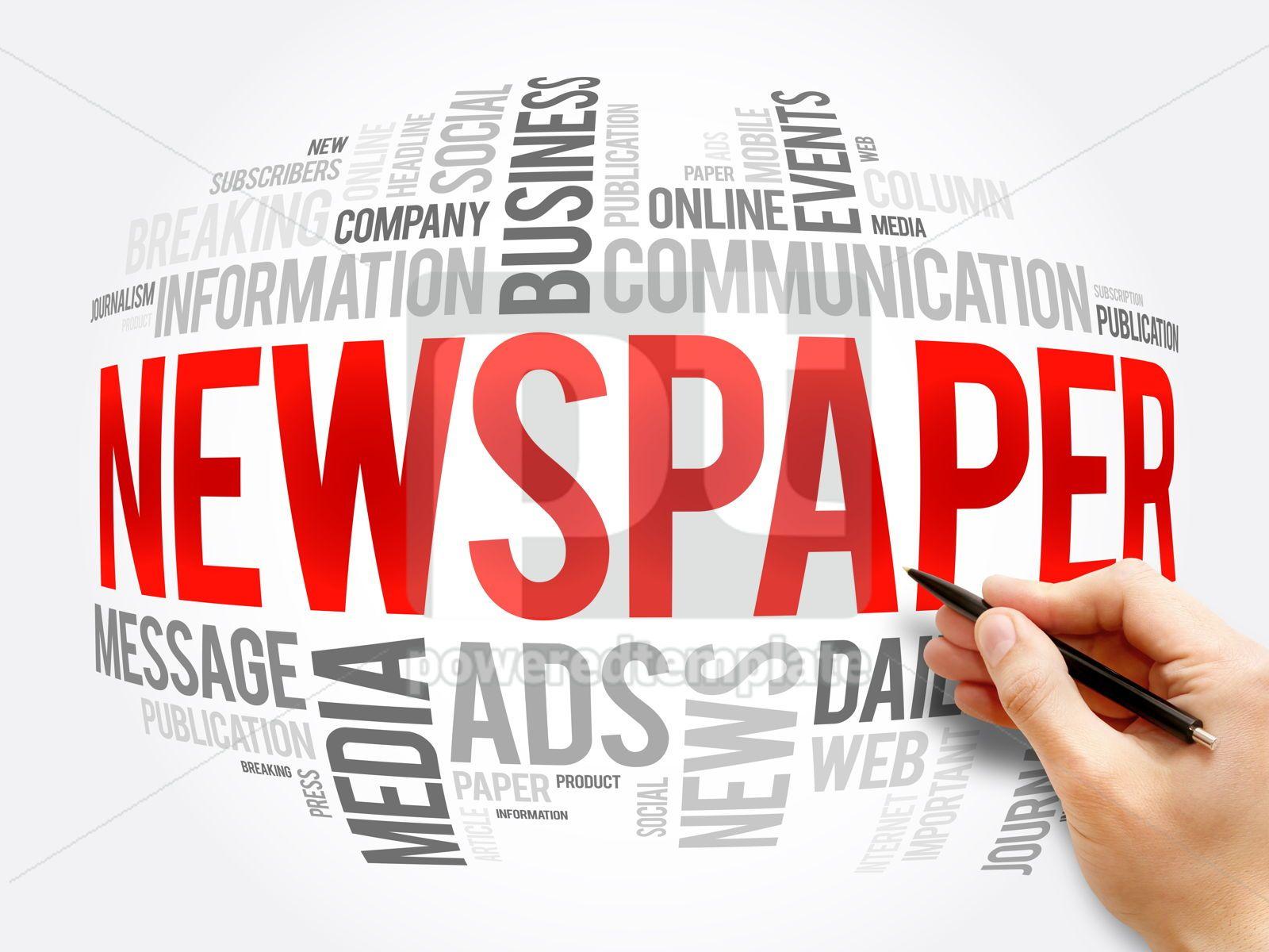 Newspaper word cloud collage business concept, 16345, Business — PoweredTemplate.com
