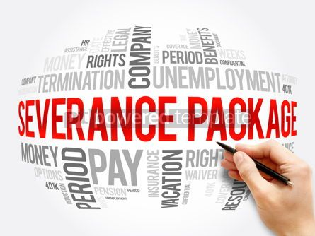 Business: Severance package word cloud collage #16346