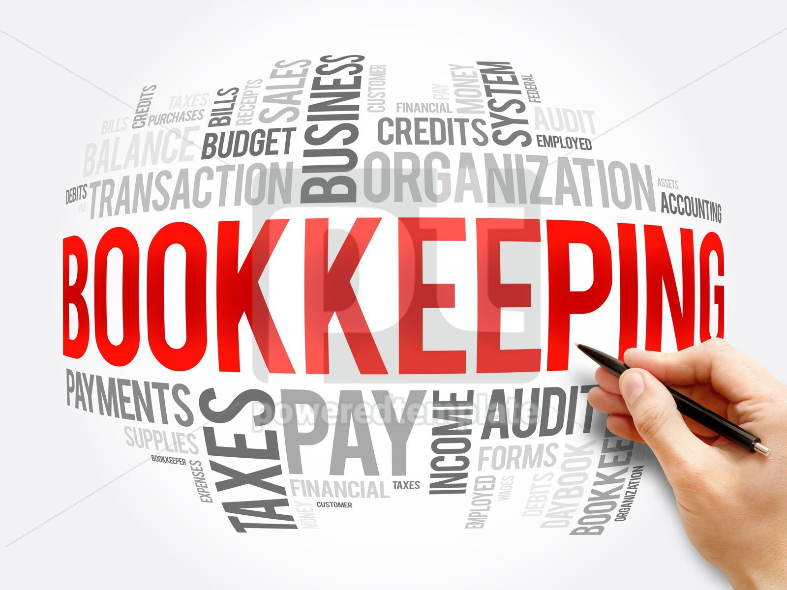 Bookkeeping word cloud collage business concept, 16357, Business — PoweredTemplate.com