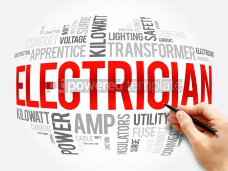 Business: Electrician word cloud collage concept #16361
