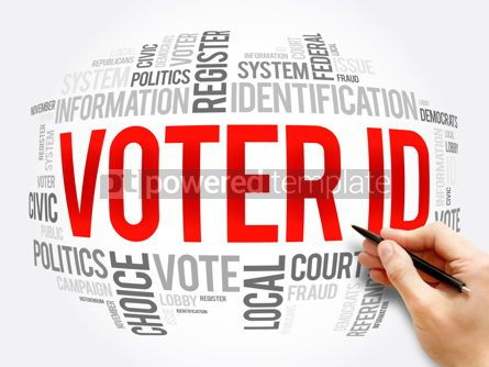 Business: Voter ID word cloud collage social concept #16366