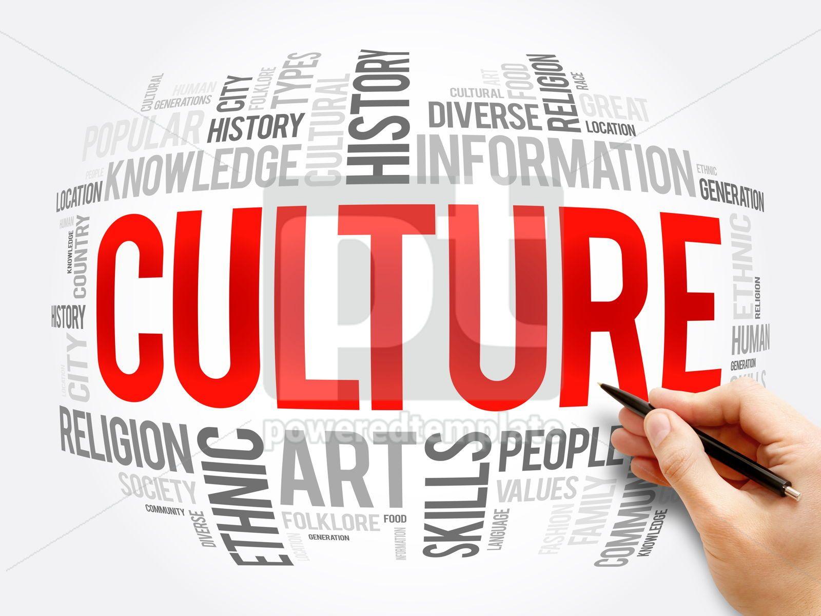 Culture word cloud collage social concept, 16368, Business — PoweredTemplate.com