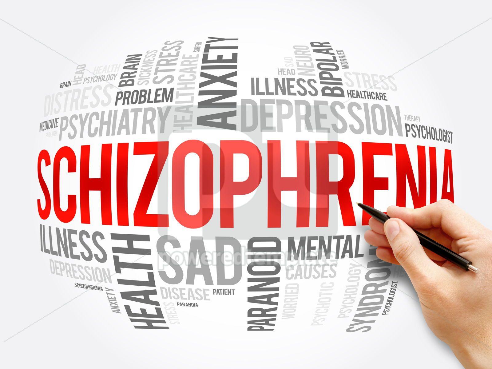 Schizophrenia word cloud collage health concept, 16372, Business — PoweredTemplate.com