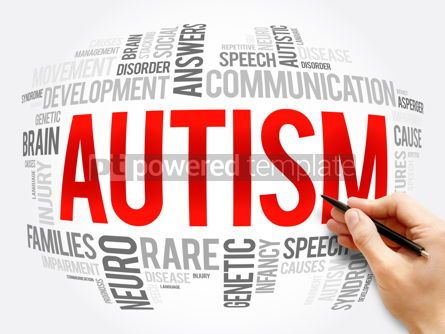 Business: Autism word cloud collage health concept #16374