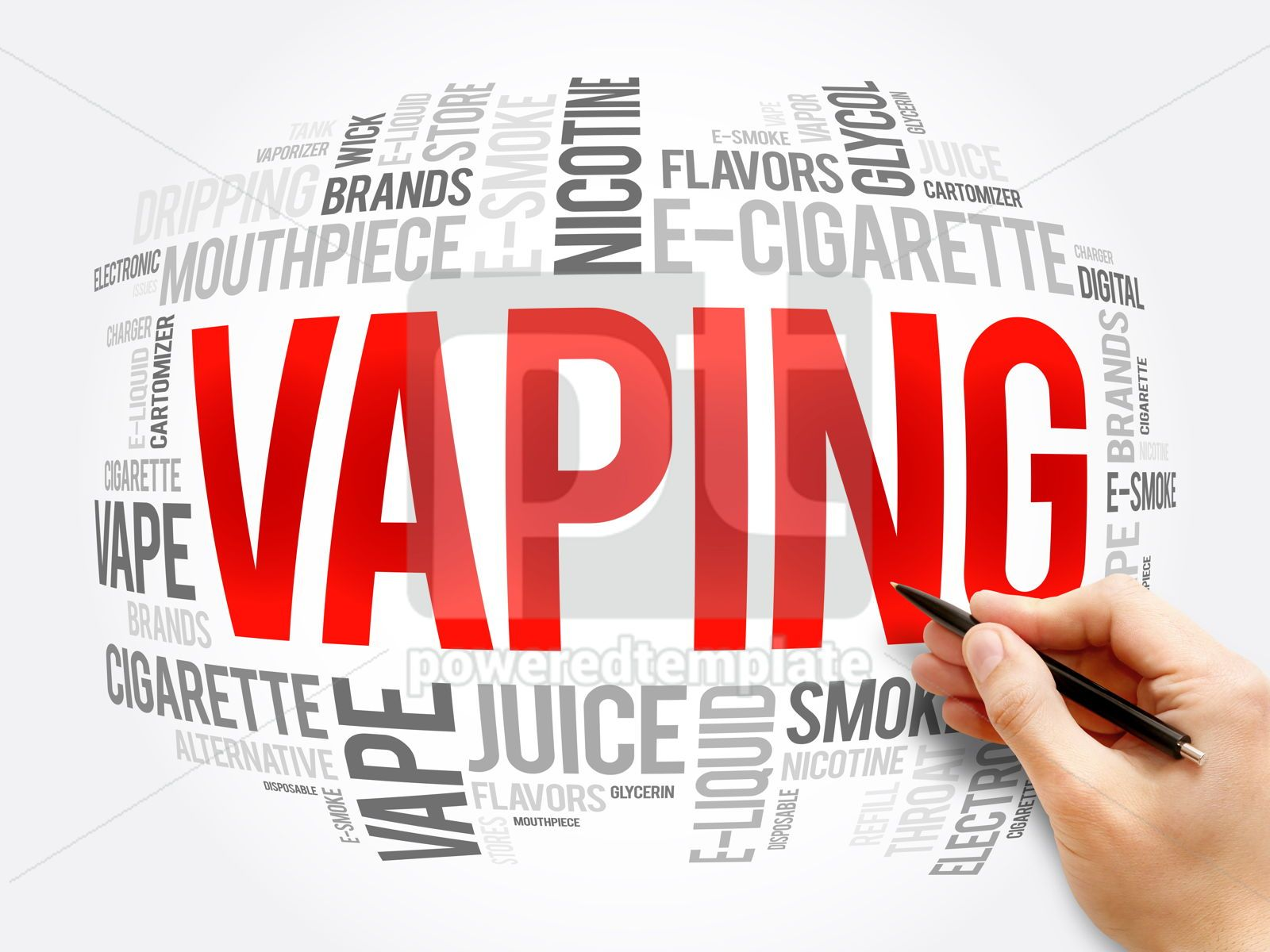 Vaping word cloud collage concept background, 16378, Business — PoweredTemplate.com