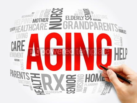 Business: Aging word cloud collage social concept #16379