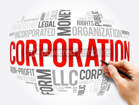 Business: Corporation word cloud collage business concept #16381