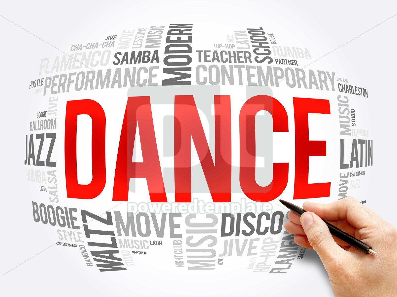 Dance word cloud collage concept background, 16385, Business — PoweredTemplate.com