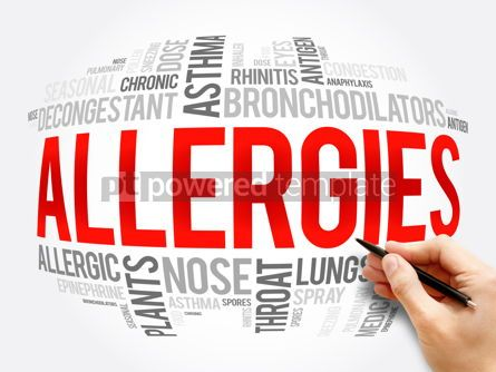 Business: Allergies word cloud collage health concept #16388