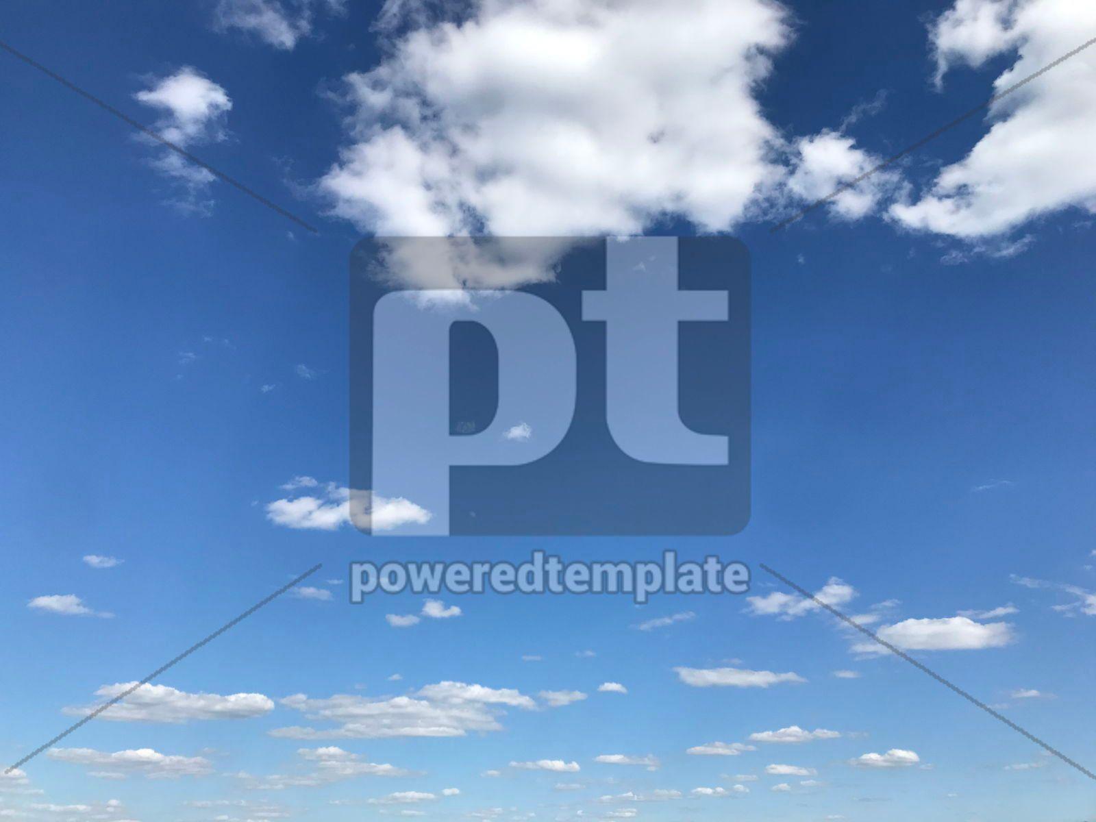 Beautiful lue sky and clouds, 16398, Nature — PoweredTemplate.com