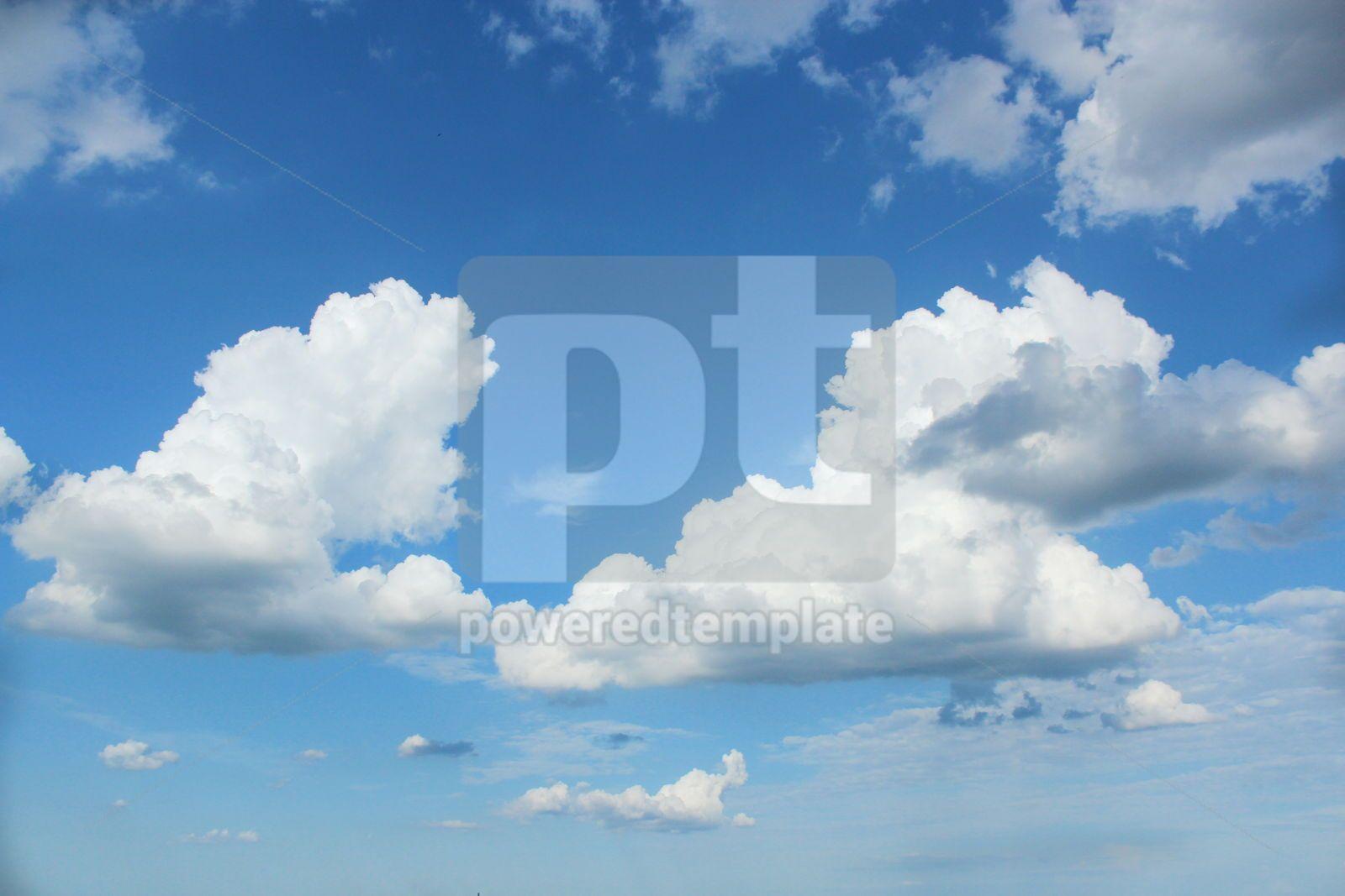 Beautiful lue sky and white clouds, 16400, Nature — PoweredTemplate.com