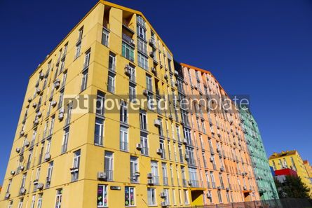 Architecture : Colorful houses of modern housing estate Comfort Town in Kyiv U #16421