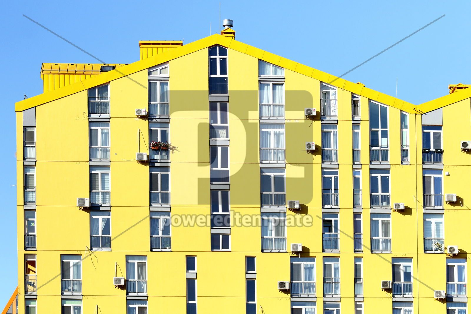 Colorful houses of modern housing estate Comfort Town in Kyiv U, 16423, Architecture  — PoweredTemplate.com