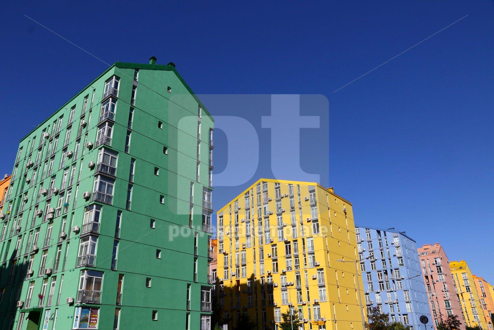 Modern housing estate Comfort Town in Kyiv Ukraine, 16424, Architecture  — PoweredTemplate.com