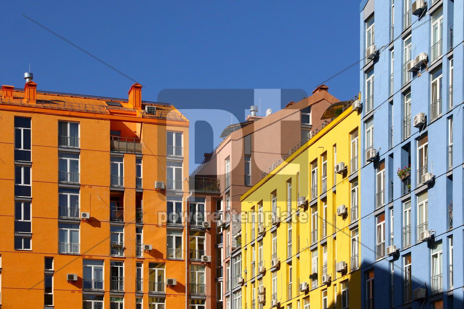 Modern housing estate Comfort Town in Kyiv Ukraine, 16425, Architecture  — PoweredTemplate.com
