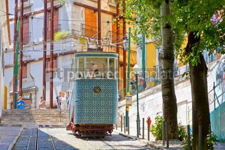 Transportation: Gloria Funicular Elevador da Gloria in Lisbon Portugal #16427