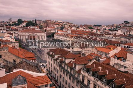 Architecture : Aerial view of Lisbon old city Portugal #16428